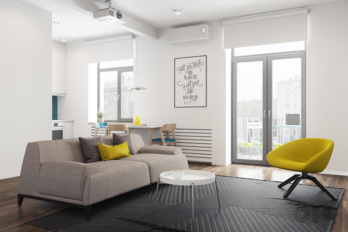 Thích mê 3 căn hộ hiện đại với diện tích khiêm tốn dưới 50m2 - Ảnh 1.