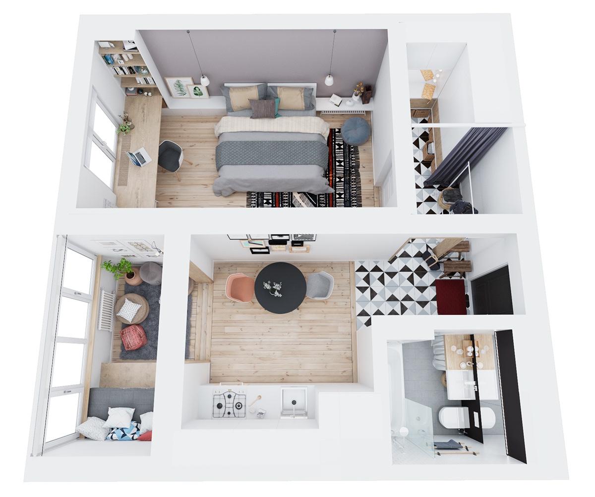 Thích mê 3 căn hộ hiện đại với diện tích khiêm tốn dưới 50m2 - Ảnh 33.