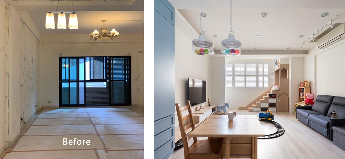 Ngôi nhà 30m² được cải tạo thành không gian hạnh phúc cho vợ chồng trẻ và con gái thỏa sức vui chơi - Ảnh 1.