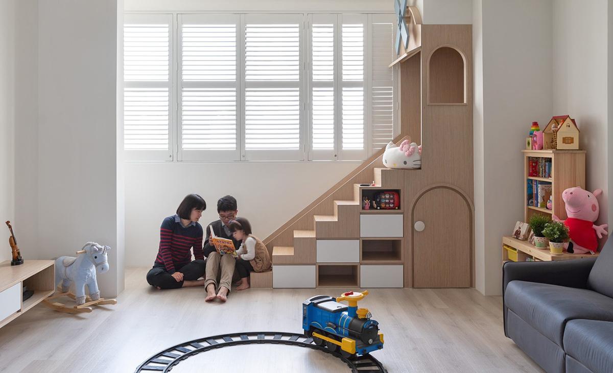 Ngôi nhà 30m² được cải tạo thành không gian hạnh phúc cho vợ chồng trẻ và con gái thỏa sức vui chơi - Ảnh 4.