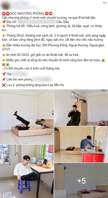 """Nam thần Lee Min Ho phải """"khóc thét"""" vì trở thành gương mặt quảng cáo bất đắc dĩ, lại còn miễn phí của cô gái nhượng phòng trọ - Ảnh 1."""