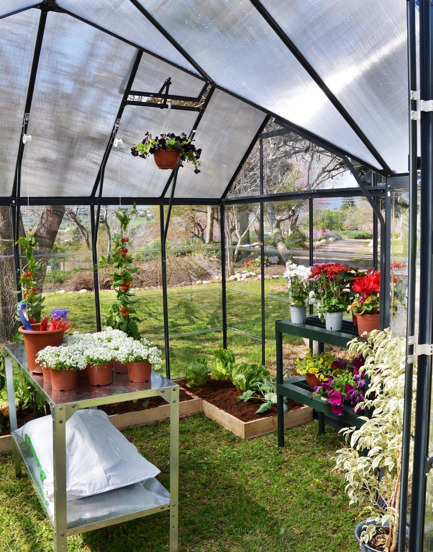 Ý tưởng dựng nhà kính trồng rau trong vườn, vừa có rau ăn vừa trang trí vườn đẹp như cổ tích - Ảnh 9.