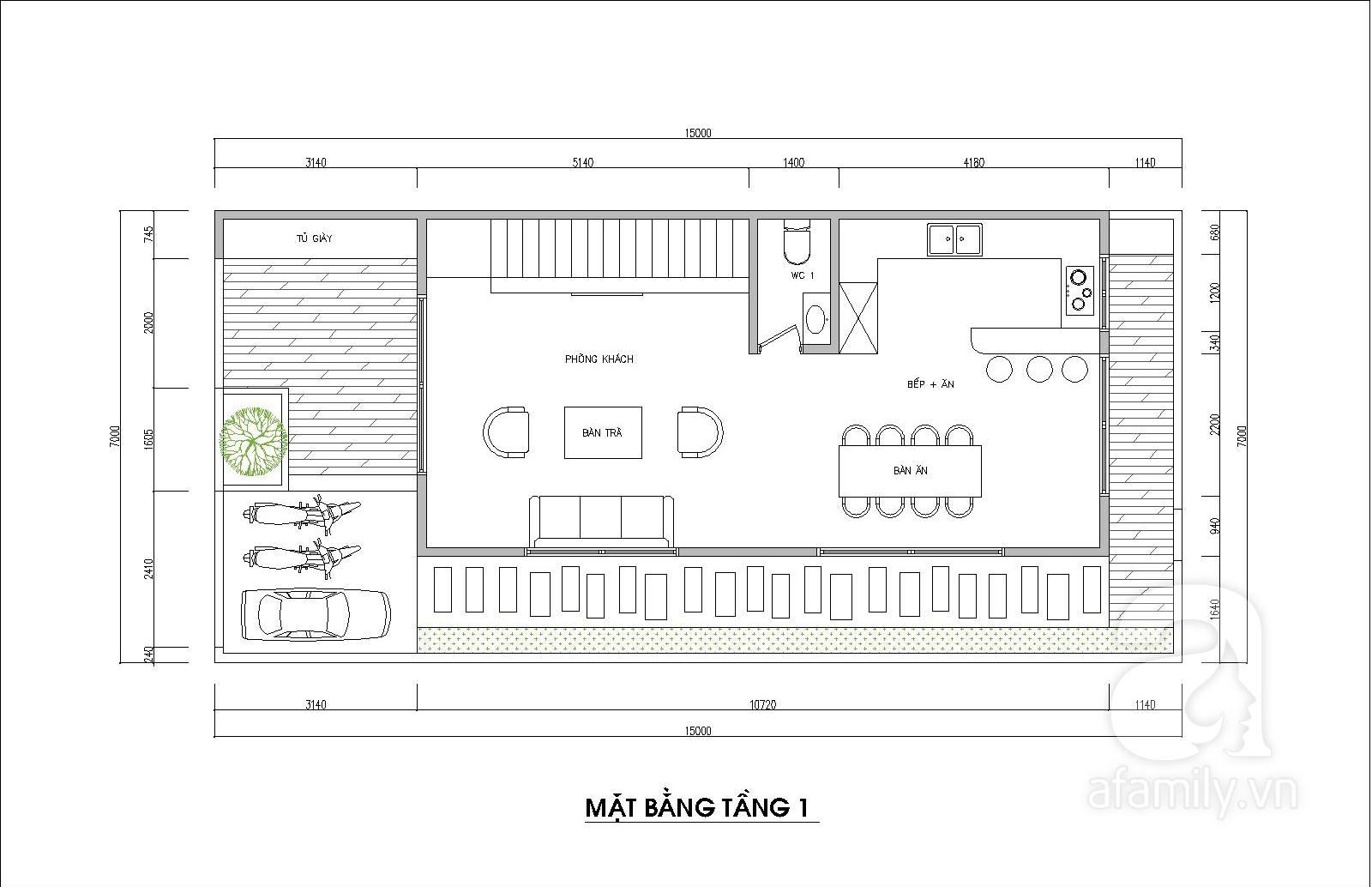 Kiến trúc sư tư vấn thiết kế hợp lý mẫu nhà ống 2 tầng diện tích nhỏ, đầy đủ tiện nghi cho gia đình 3 người với chi phí gần 200 triệu đồng - Ảnh 2.