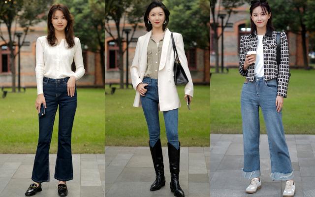 Street style Châu Á: Toàn mặc jeans cơ bản nhưng nàng nào cũng đẹp nhờ kết hợp đúng kiểu giày