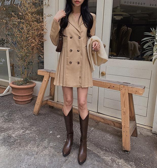 11 công thức váy + boots rõ xinh, các nàng ghim ngay để từ giờ đến cuối năm luôn mặc đẹp - Ảnh 11.