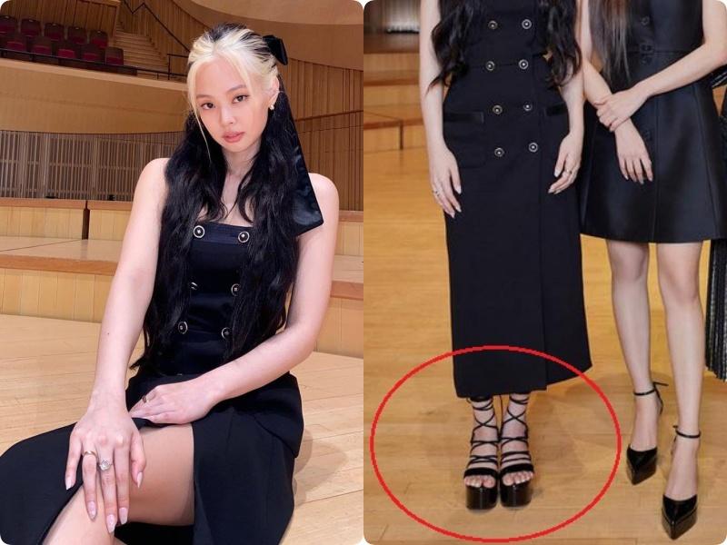 """Cùng diện đầm Chanel 160 triệu: """"Gia Quý phi"""" của Như ý Truyện sang chảnh bậc nhất, Jennie (Black Pink) bất ngờ lép về chỉ vì đôi sandals tòe cả ngón chân - Ảnh 11."""