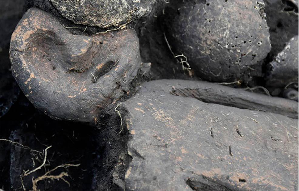 Bí ẩn 2 cặp nam nữ nằm úp lên nhau trong mộ cổ 5.000 năm - Ảnh 2.