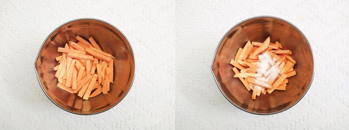 Muốn ăn vặt mà lại sợ béo thì học ngay cách làm món khoai lang tẩm dừa bằng nồi chiên không dầu này thôi! - Ảnh 3.