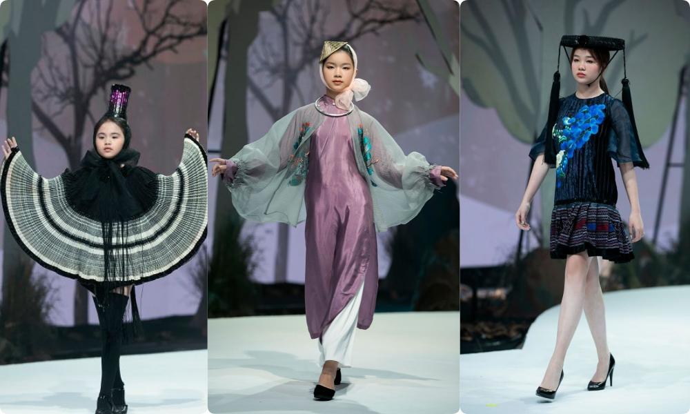 """HH Hương Giang tái xuất sàn catwalk với hình ảnh """"công chúa rừng xanh"""", kết màn cho Tuần lễ thời trang Trẻ em 2020 - Ảnh 2."""