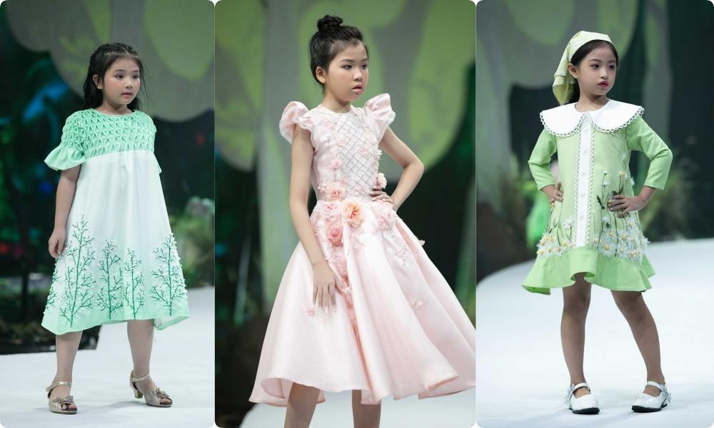 """HH Hương Giang tái xuất sàn catwalk với hình ảnh """"công chúa rừng xanh"""", kết màn cho Tuần lễ thời trang Trẻ em 2020 - Ảnh 11."""