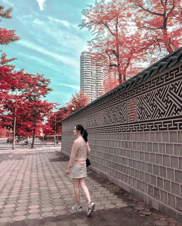 Bức tường Hàn Quốc giống hệt hoàng cung xứ sở kim chi ngay giữa lòng Hà Nội khiến giới trẻ rủ nhau đến check in rầm rộ - Ảnh 7.