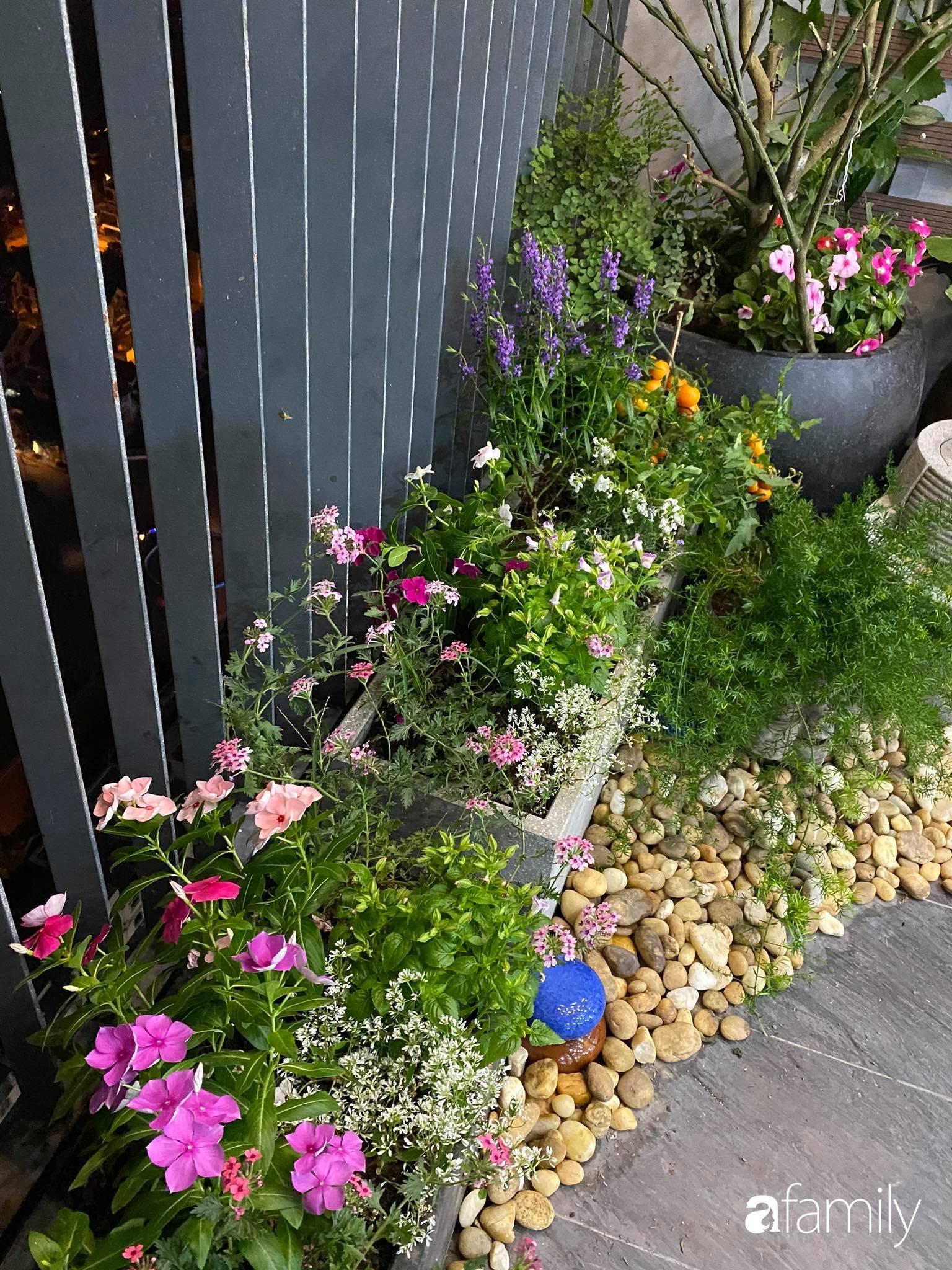 Ban công căn hộ thông tầng đẹp lãng mạn với cây và hoa ở Hà Nội - Ảnh 6.