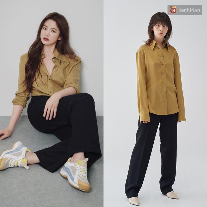 """Sau bao lần bị chê mặc sến, Song Hye Kyo giờ """"lên đời"""" khi diện đồ sang xịn hơn người mẫu - Ảnh 2."""