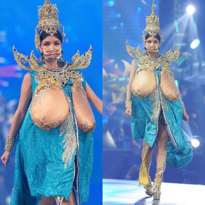 Điểm danh những bộ trang phục dân tộc phản cảm nhất lịch sử hoa hậu: Đại diện Việt Nam cũng góp mặt với bộ đồ lộ nguyên vòng 3 - Ảnh 1.