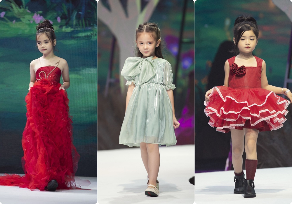 """Lần đầu tiên đưa """"quý tử"""" lên sàn catwalk, vợ chồng Lương Thế Thành - Trúc Diễm khép lại Tuần lễ thời trang trẻ em 2020 - Ảnh 3."""