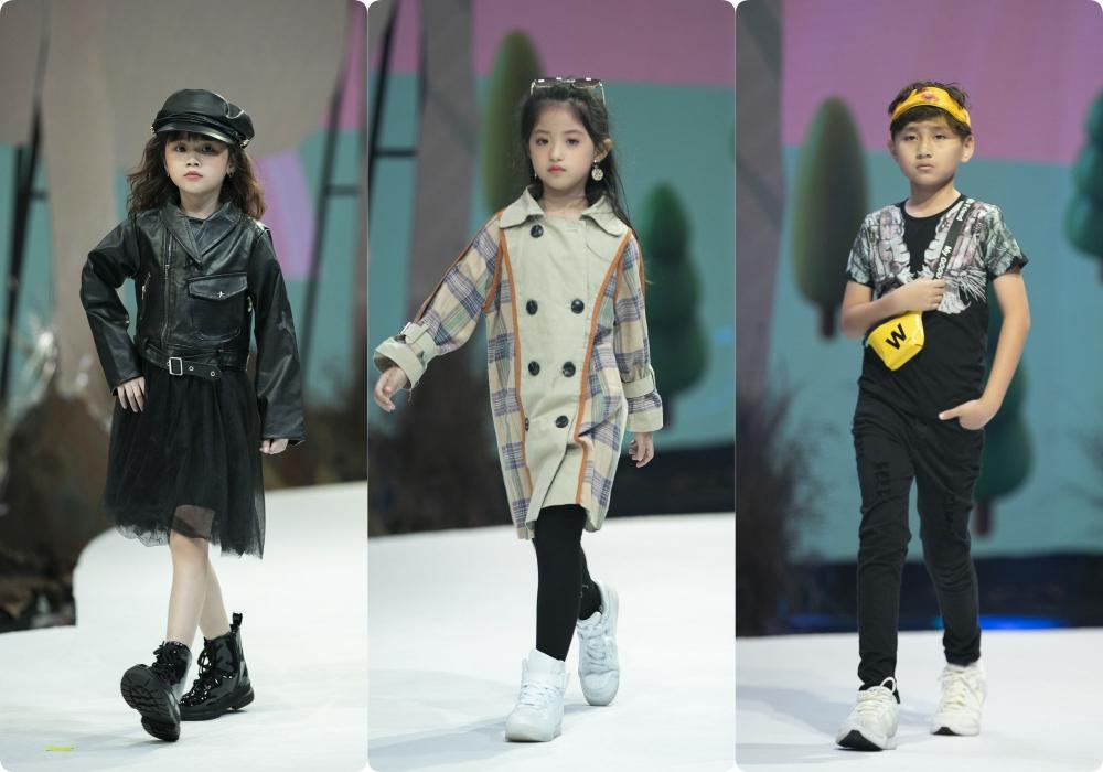 """Lần đầu tiên đưa """"quý tử"""" lên sàn catwalk, vợ chồng Lương Thế Thành - Trúc Diễm khép lại Tuần lễ thời trang trẻ em 2020 - Ảnh 7."""
