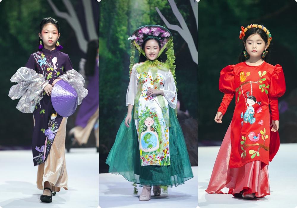 """Lần đầu tiên đưa """"quý tử"""" lên sàn catwalk, vợ chồng Lương Thế Thành - Trúc Diễm khép lại Tuần lễ thời trang trẻ em 2020 - Ảnh 10."""