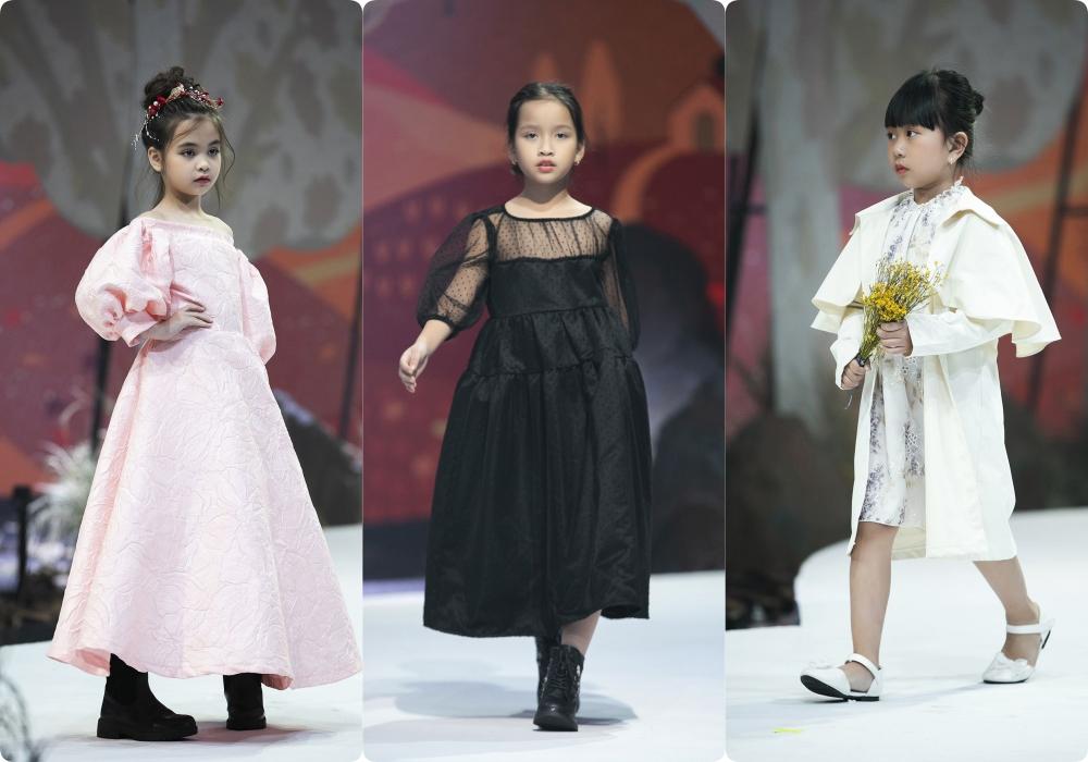 """Lần đầu tiên đưa """"quý tử"""" lên sàn catwalk, vợ chồng Lương Thế Thành - Trúc Diễm khép lại Tuần lễ thời trang trẻ em 2020 - Ảnh 12."""