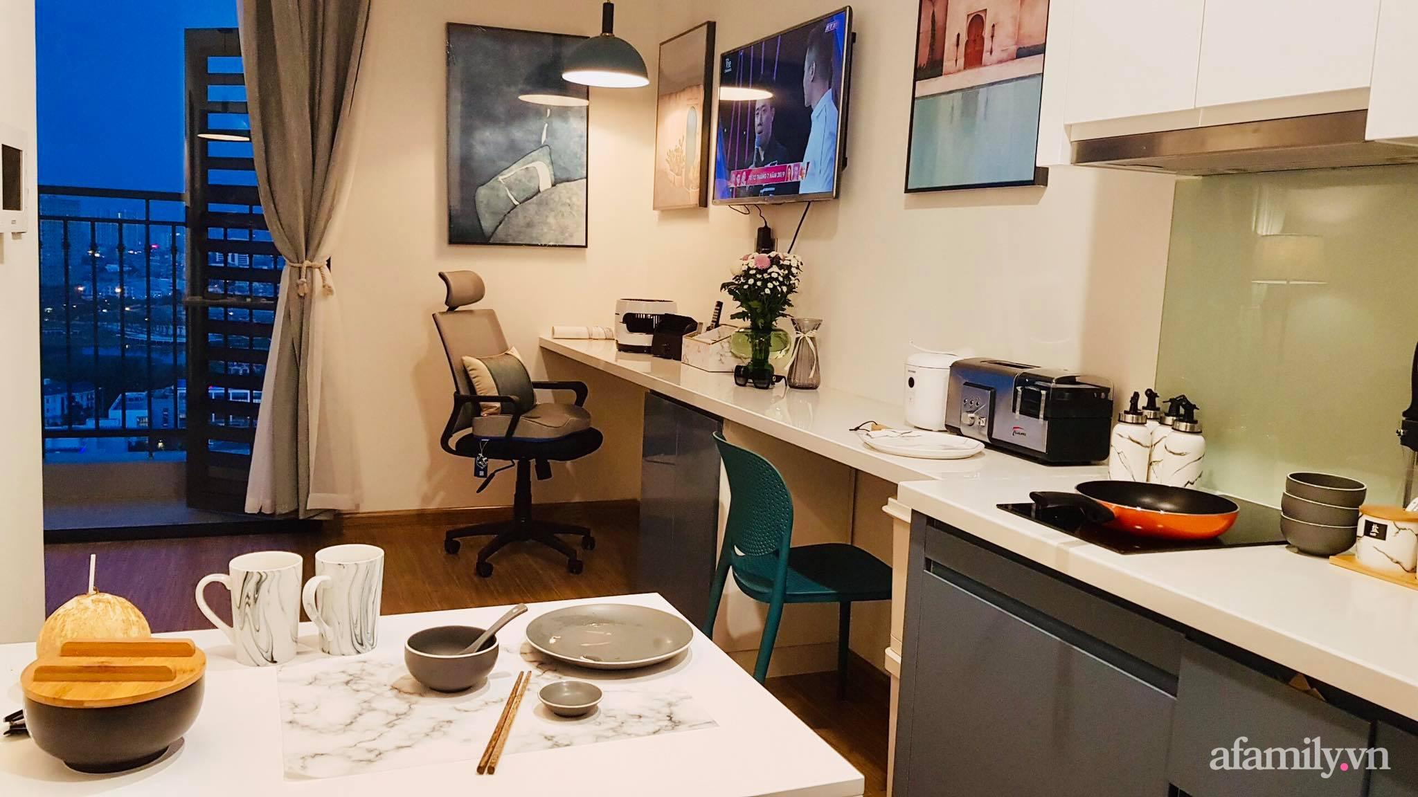 Căn hộ 28m² đẹp từng centimet với cách lựa chọn nội thất thông minh, hiện đại có chi phí hoàn thiện 100 triệu đồng ở Hà Nội - Ảnh 5.
