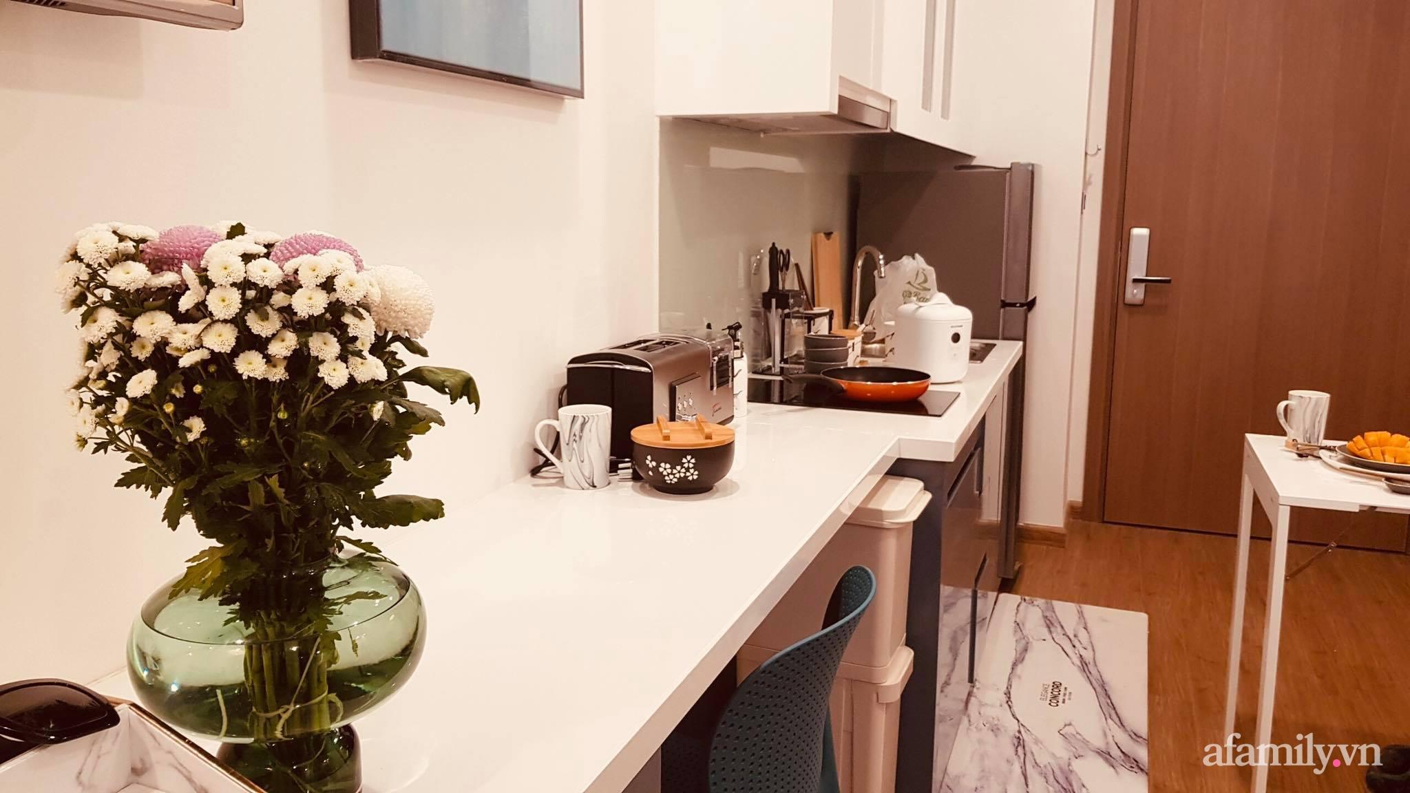Căn hộ 28m² đẹp từng centimet với cách lựa chọn nội thất thông minh, hiện đại có chi phí hoàn thiện 100 triệu đồng ở Hà Nội - Ảnh 8.
