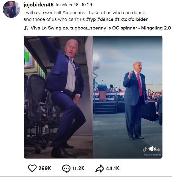 """Xuất hiện hình ảnh Tổng thống Trump và ông Joe Biden """"nhảy thi"""" cực bốc khiến dân mạng choáng váng và sự thật càng bất ngờ hơn - Ảnh 3."""
