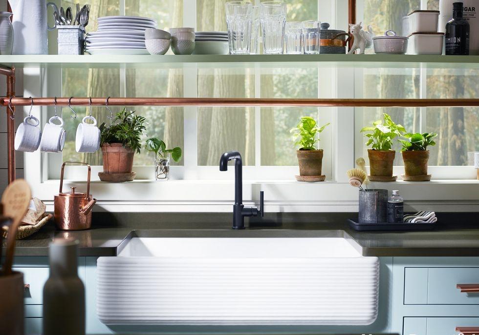 nhà bếp không gian hẹp