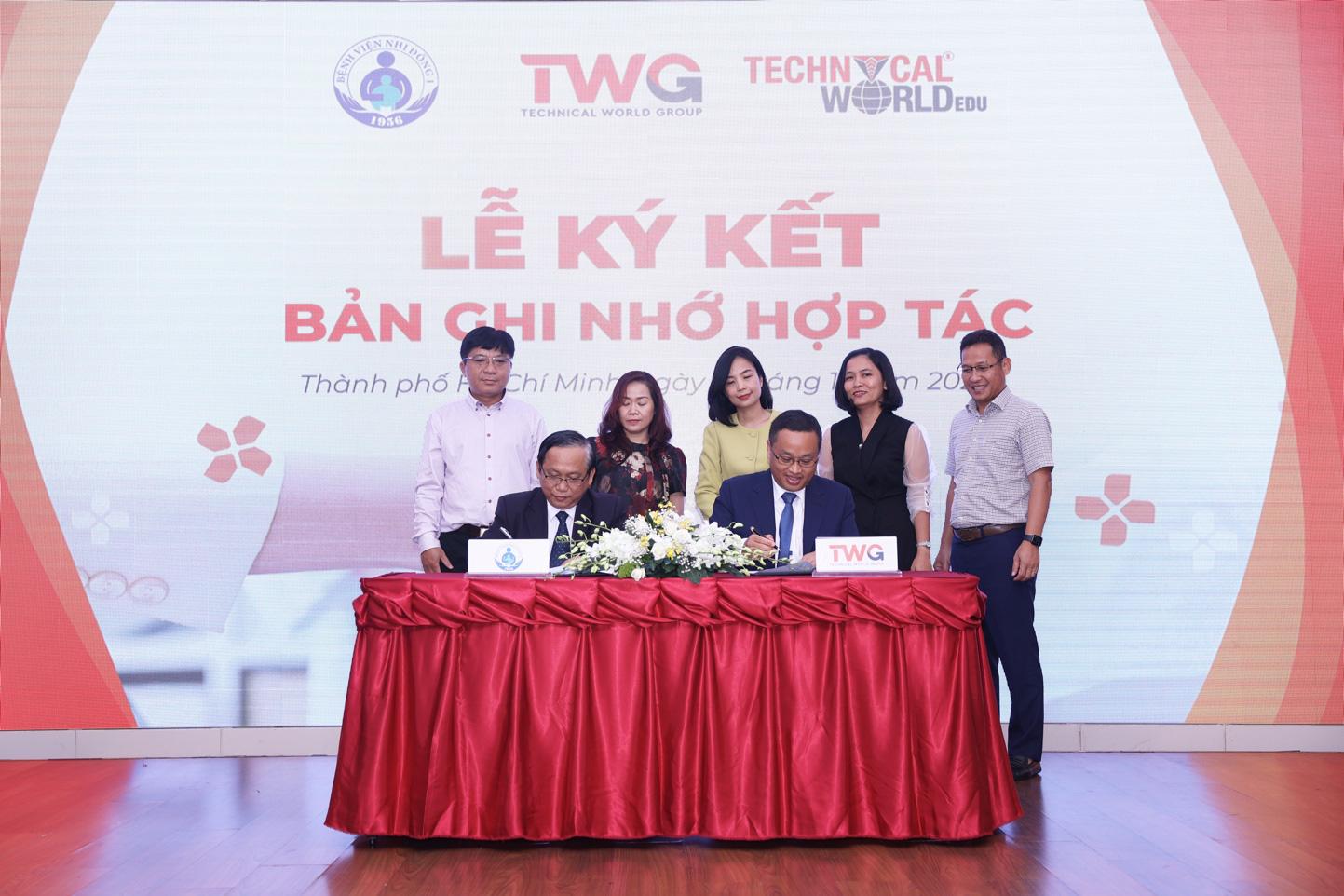 TWGroup hợp tác cùng bệnh viện nhi đồng 1 chăm sóc sức khoẻ toàn diện cho học sinh - Ảnh 1.