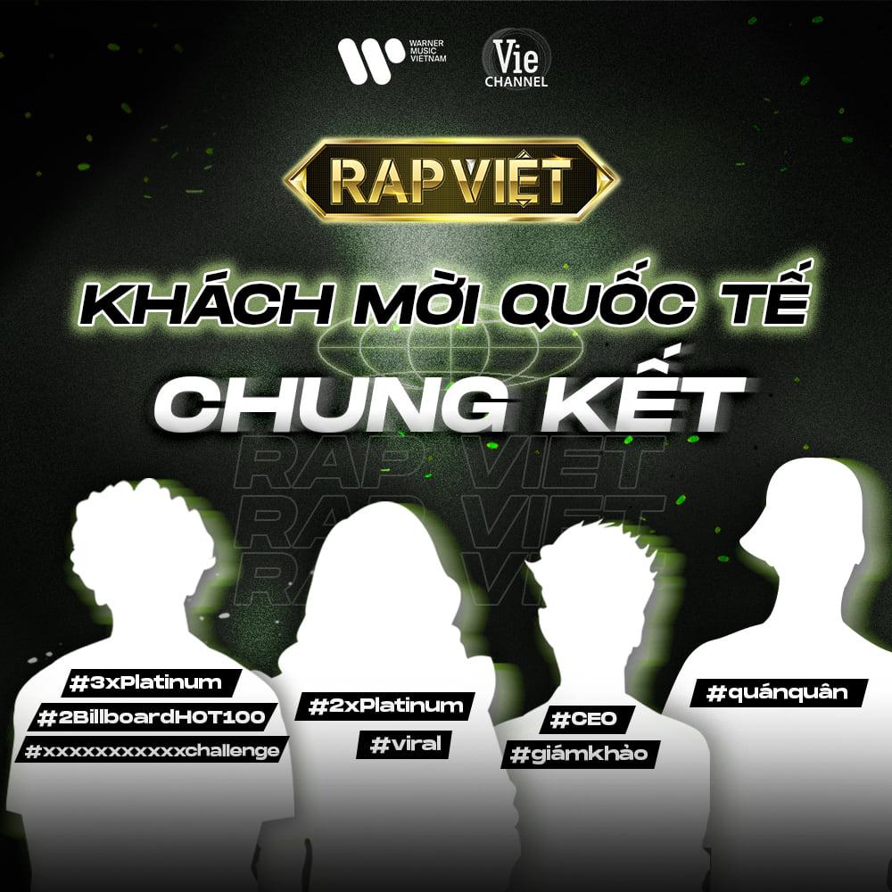 """HOT: Chung kết Rap Việt sẽ có 4 nghệ sĩ quốc tế xuất hiện, fan đoán """"chắc cú"""" San E - Basick của Hàn Quốc, 2 người còn lại là ai?"""