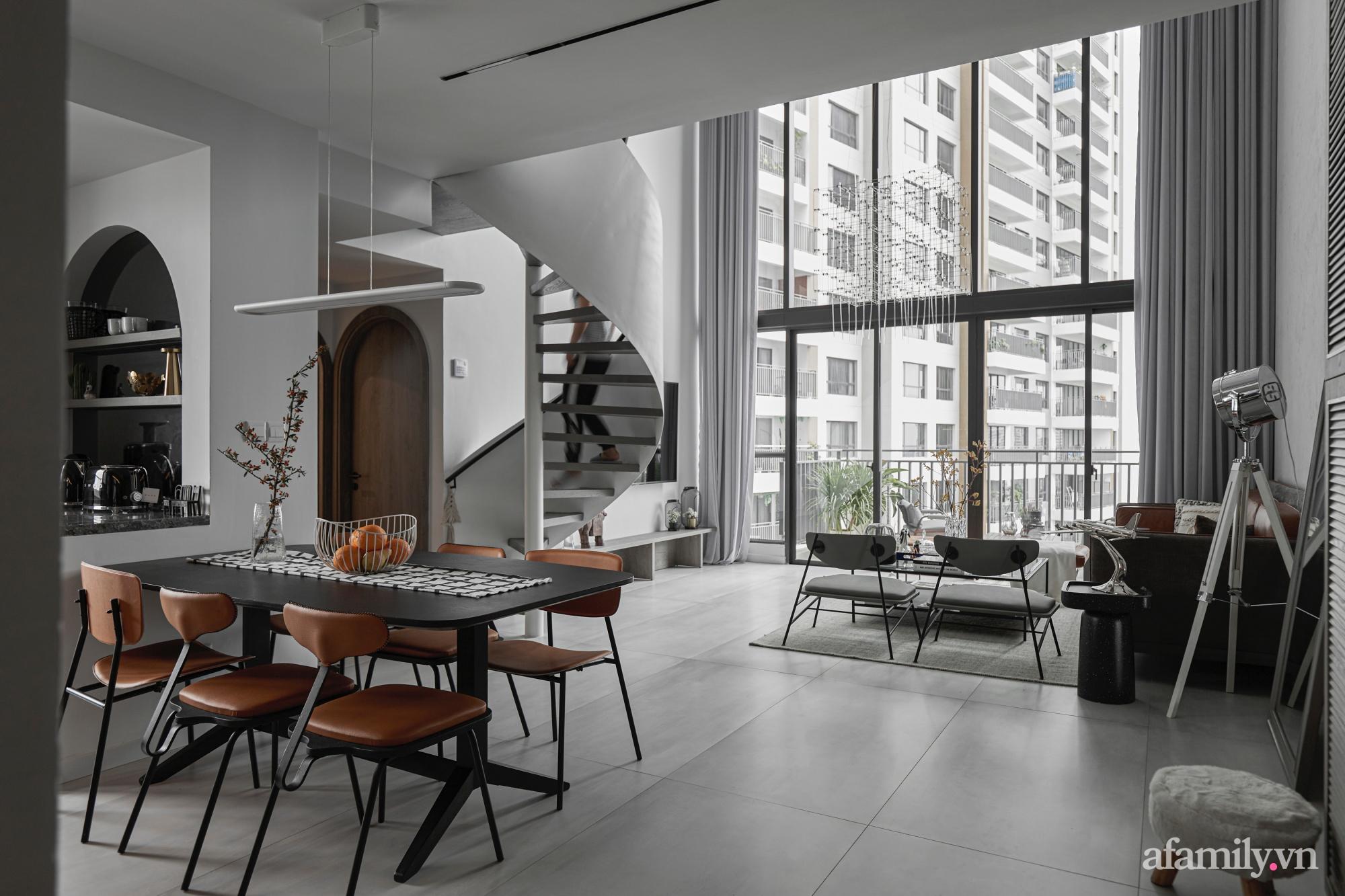 Căn hộ 2 tầng rộng 145m² đẹp sang trọng với điểm nhấn mộc mạc từ chất liệu bê tông ở Sài Gòn - Ảnh 8.