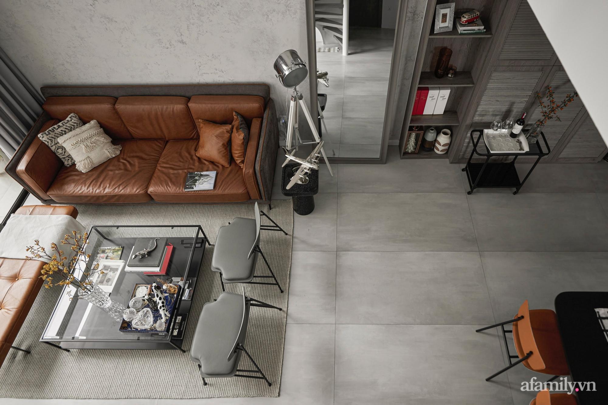 Căn hộ 2 tầng rộng 145m² đẹp sang trọng với điểm nhấn mộc mạc từ chất liệu bê tông ở Sài Gòn - Ảnh 5.