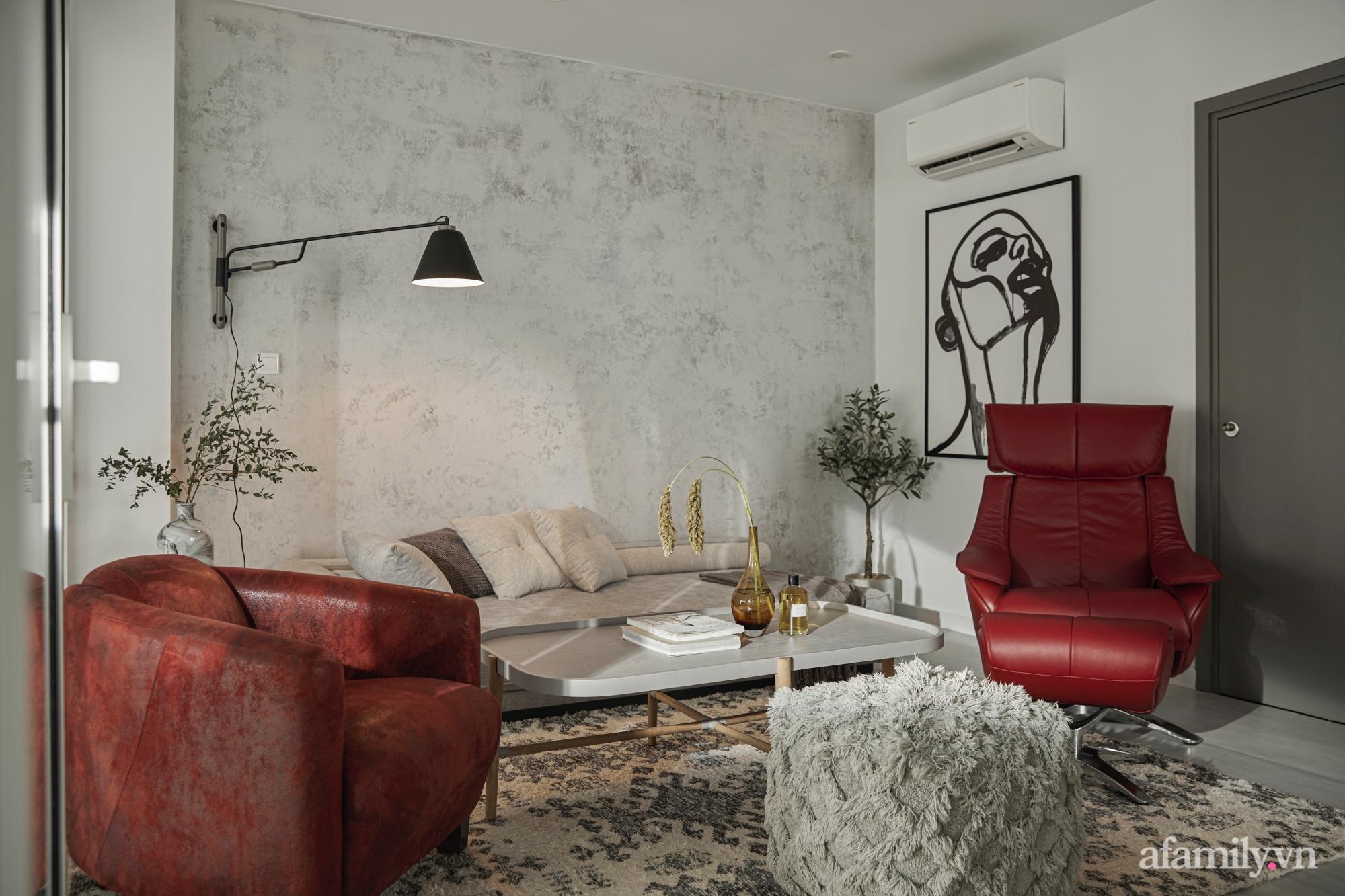 Căn hộ 2 tầng rộng 145m² đẹp sang trọng với điểm nhấn mộc mạc từ chất liệu bê tông ở Sài Gòn - Ảnh 16.