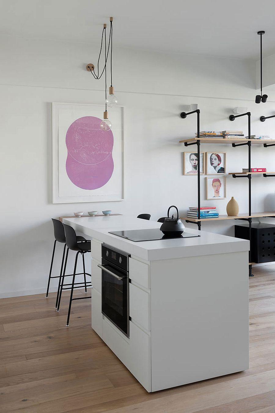 thiết kế không gian bếp hẹp