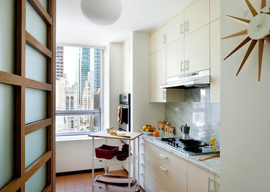 Căn bếp nhỏ vẫn thoáng rộng và ấm cúng nhờ lựa chọn ánh sáng đúng cách - Ảnh 9.
