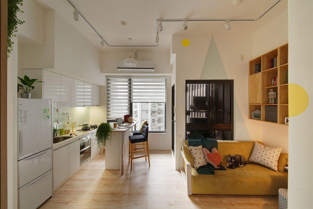 Căn bếp nhỏ vẫn thoáng rộng và ấm cúng nhờ lựa chọn ánh sáng đúng cách - Ảnh 10.