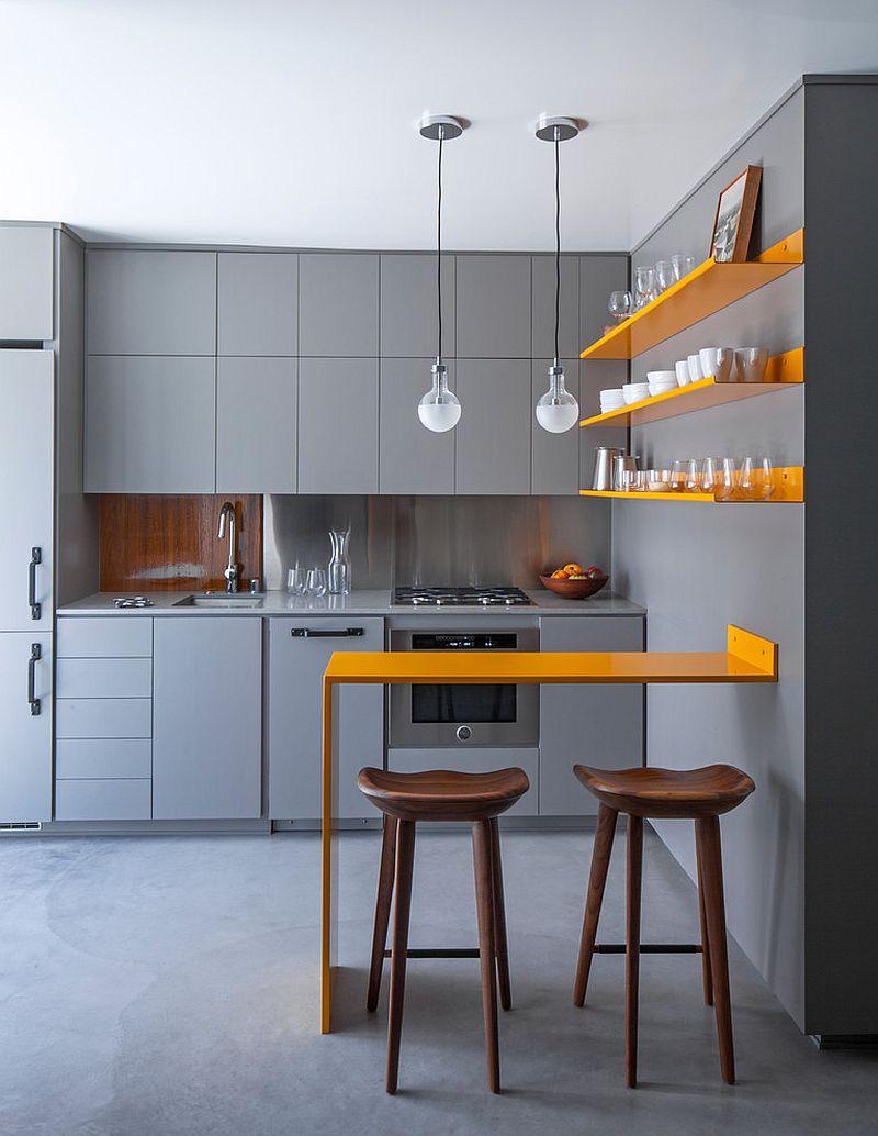 Căn bếp nhỏ vẫn thoáng rộng và ấm cúng nhờ lựa chọn ánh sáng đúng cách - Ảnh 6.