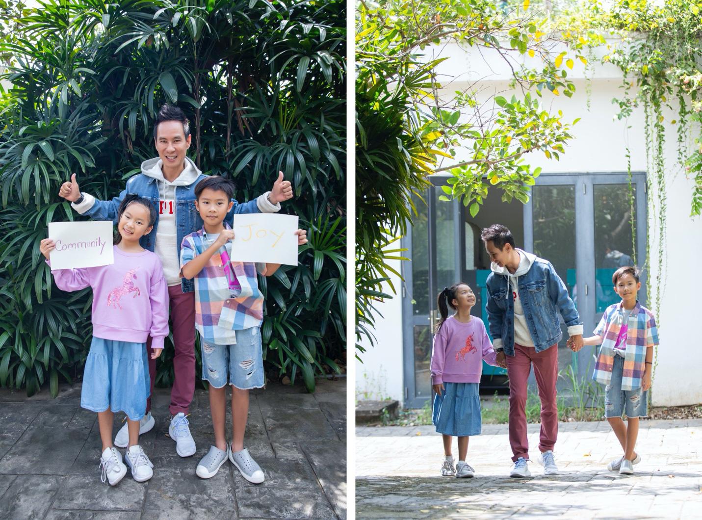 Vợ chồng Lý Hải - Minh Hà cùng 4 nhóc tì xuất hiện như fashionista trong BST Holiday của GAP - Ảnh 4.
