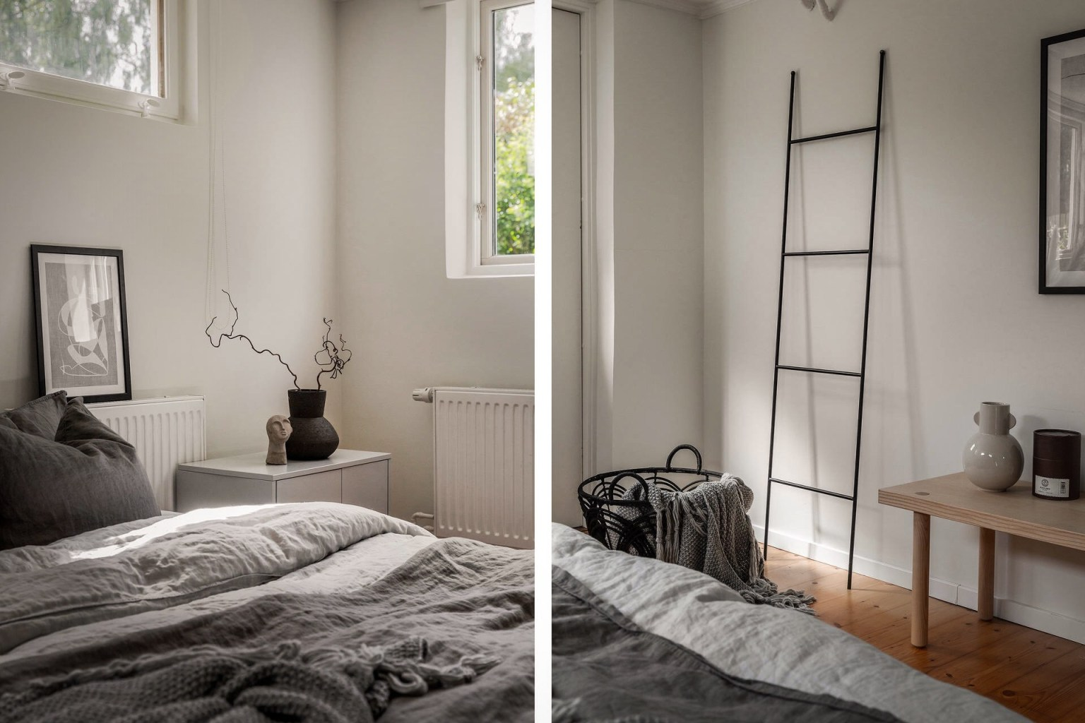 """32 bedroom ladder 1605688713434133008142 - Căn nhà cấp 4 màu xanh da trời nhìn ngoài thì bình thường mà bên trong khiến ai cũng """"sững sờ"""""""