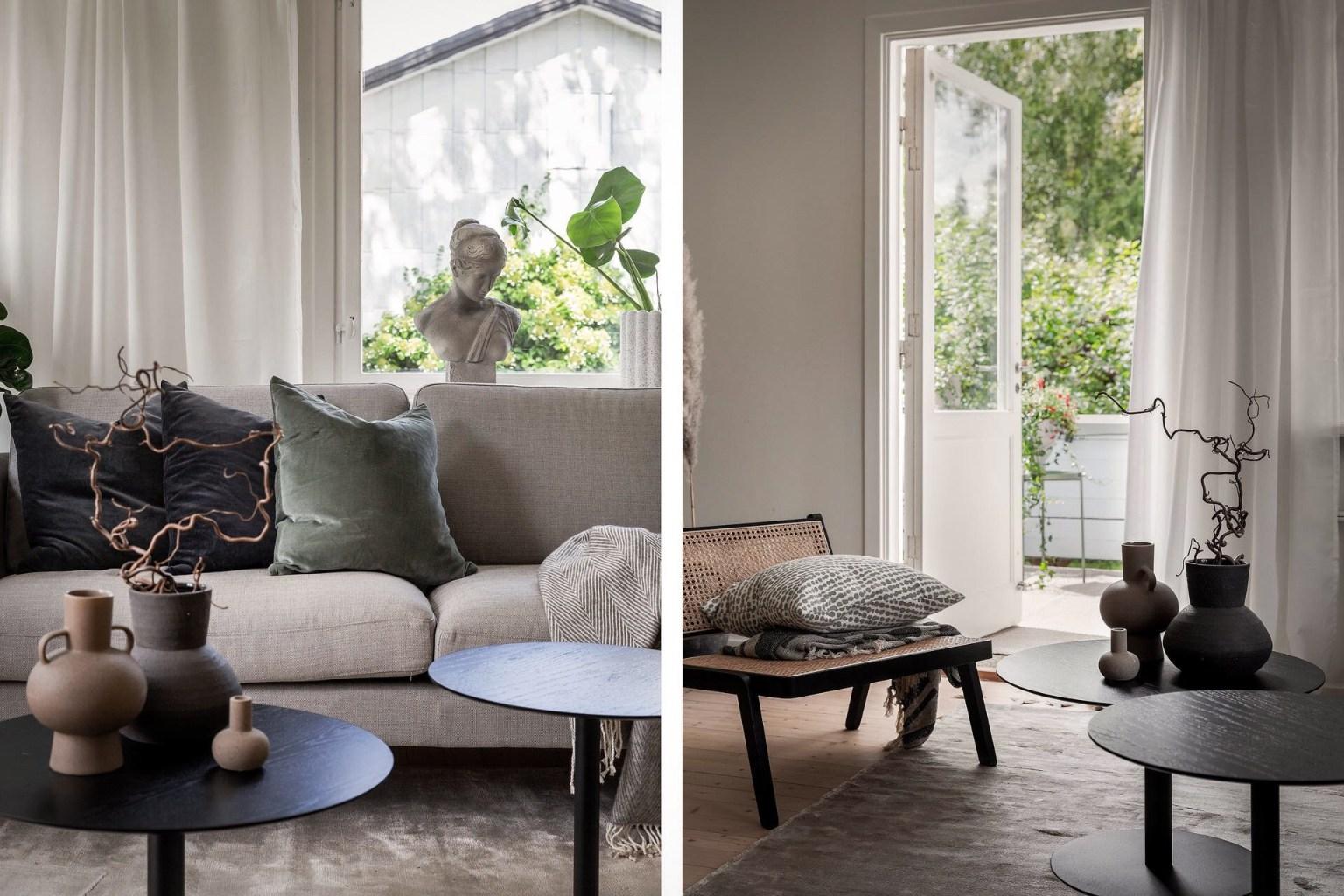 """9 living room details 1605688715364233192443 - Căn nhà cấp 4 màu xanh da trời nhìn ngoài thì bình thường mà bên trong khiến ai cũng """"sững sờ"""""""