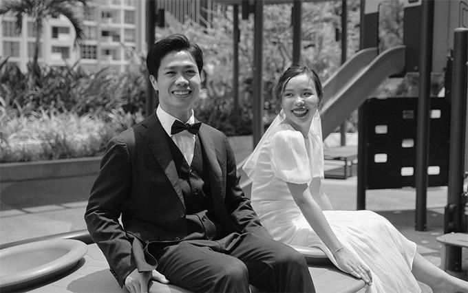 """Cô dâu của Công Phượng diện váy cưới chỉ hơn 2 triệu, đụng hàng ngay với """"siêu mẫu bỉm sữa"""" Lan Khuê - Ảnh 1."""