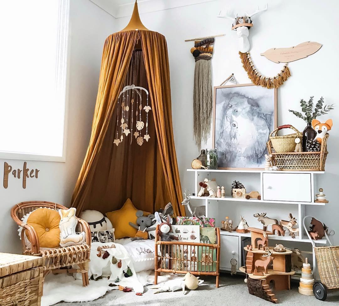 Ý tưởng trang trí phòng bé siêu dễ thương với chất liệu thân thiện môi trường - Ảnh 1.