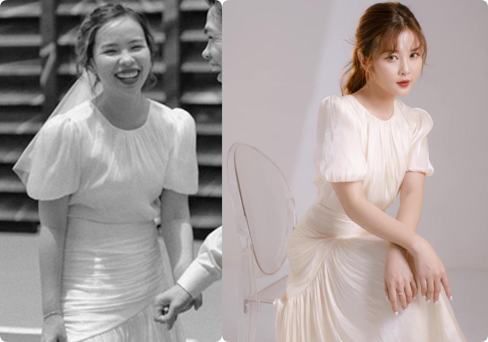 """Cô dâu của Công Phượng diện váy cưới chỉ hơn 2 triệu, đụng hàng ngay với """"siêu mẫu bỉm sữa"""" Lan Khuê - Ảnh 3."""