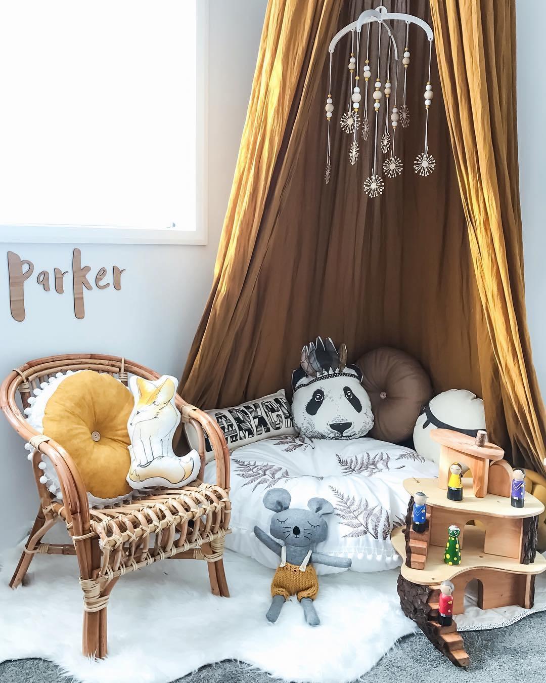 Ý tưởng trang trí phòng bé siêu dễ thương với chất liệu thân thiện môi trường - Ảnh 4.
