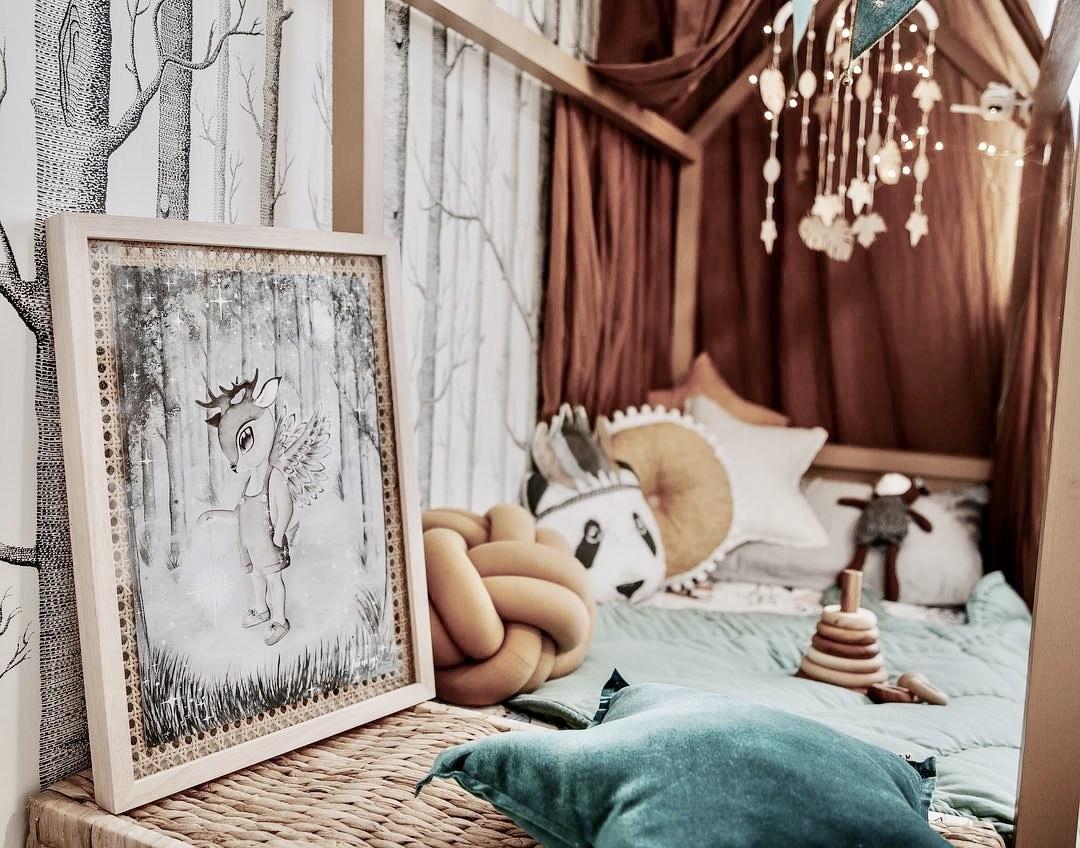 Ý tưởng trang trí phòng bé siêu dễ thương với chất liệu thân thiện môi trường - Ảnh 2.