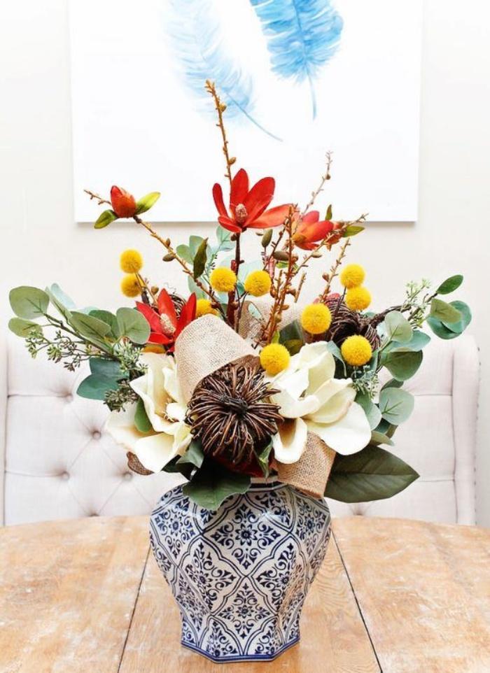 Gợi ý cắm hoa giả tạo nét đẹp tinh tế và lãng mạn bừng sáng không gian sống - Ảnh 17.