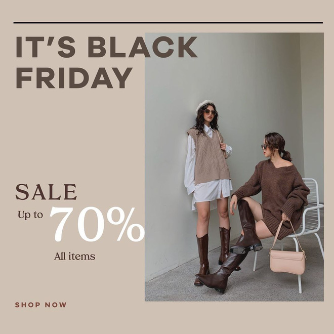 """Các shop quần áo rần rần sale """"sốc"""" Black Friday: Sắm đồ đẹp với giá giảm đến 70% ngay từ bây giờ - Ảnh 3."""