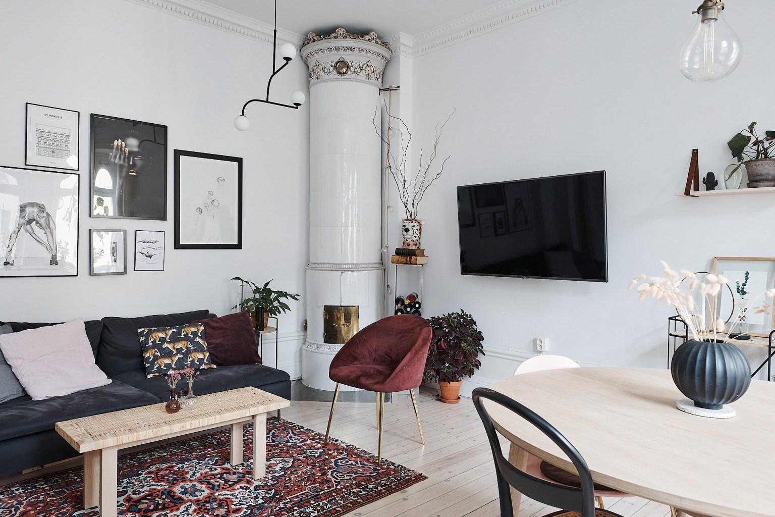 Căn hộ 58m² đẹp tinh tế nhờ phối màu tinh tế theo phong cách Scandinavian - Ảnh 1.