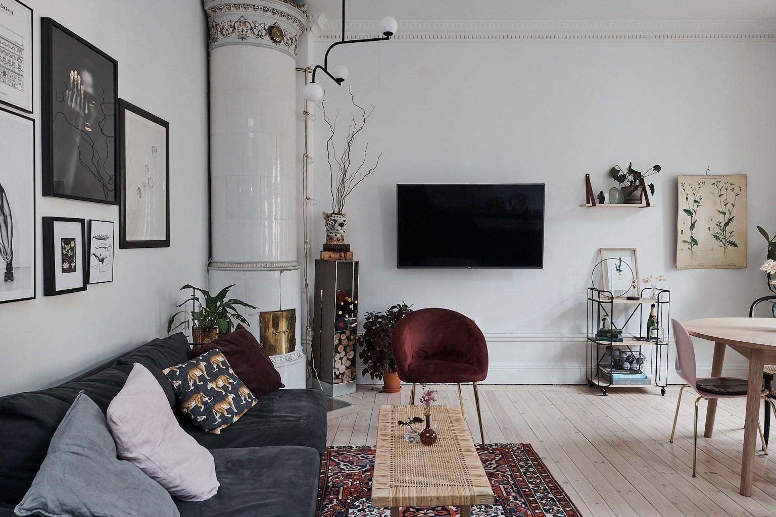 Căn hộ 58m² đẹp tinh tế nhờ phối màu tinh tế theo phong cách Scandinavian - Ảnh 2.
