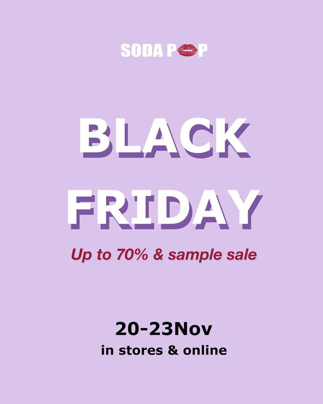 """Các shop quần áo rần rần sale """"sốc"""" Black Friday: Sắm đồ đẹp với giá giảm đến 70% ngay từ bây giờ - Ảnh 1."""