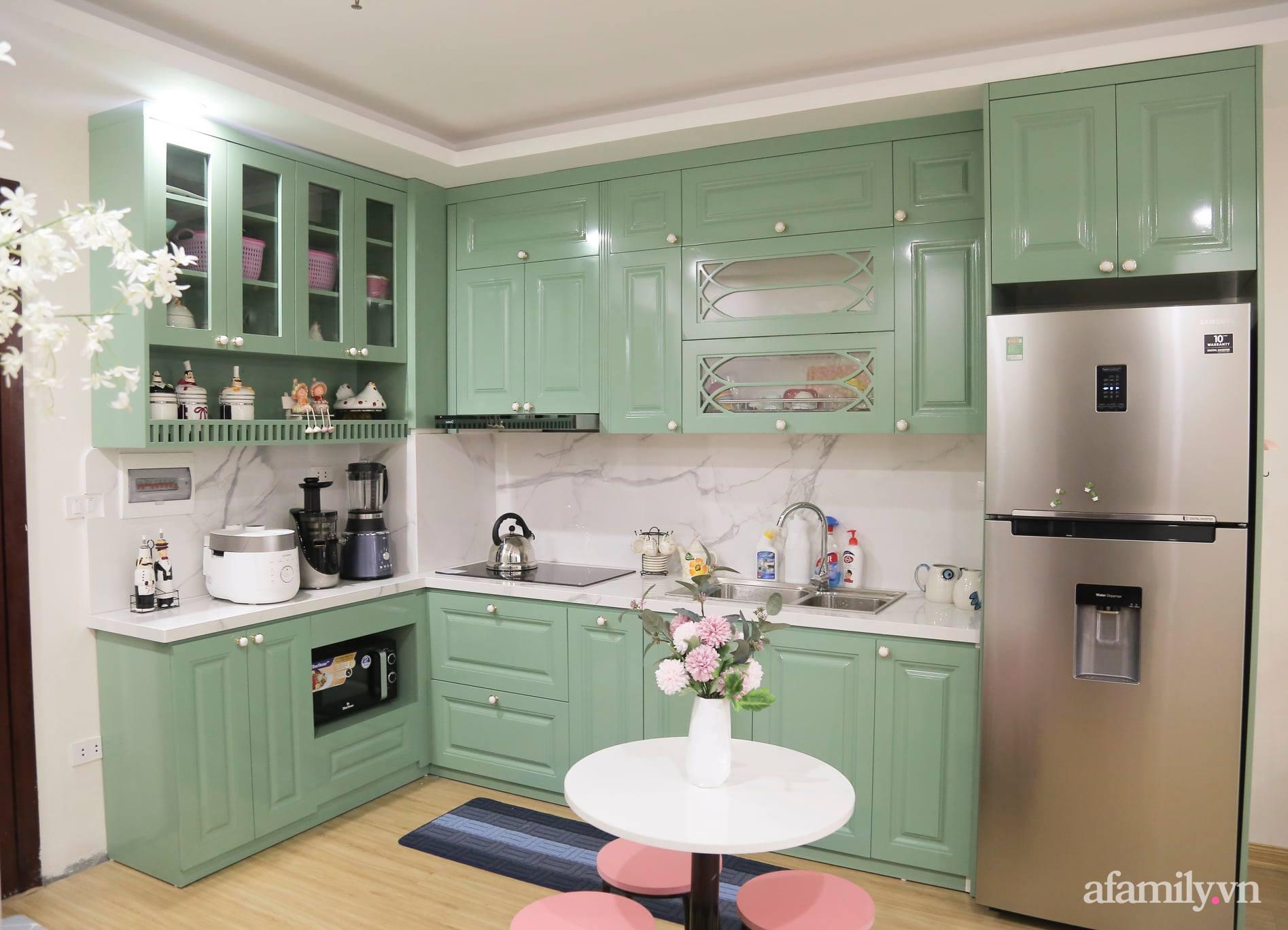 Căn hộ 72m² ngập tràn yêu thương với gam màu xanh mint cùng phong cách tân cổ điển ở Bắc Ninh - Ảnh 6.