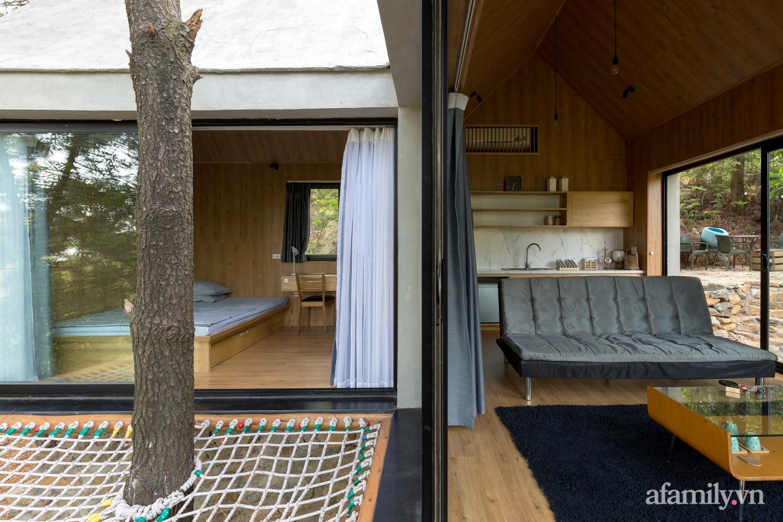 """Ngôi nhà nhỏ 40m² chênh vênh trên núi """"tắm"""" trọn ánh nắng và bóng cây ở ngoại ô Hà Nội - Ảnh 12."""